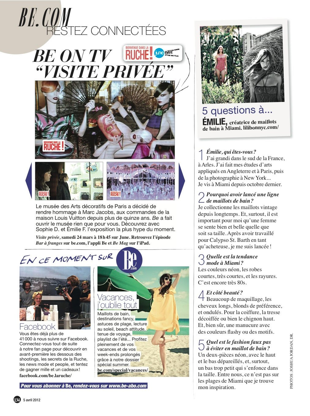 Be Magazine April 5, 2012