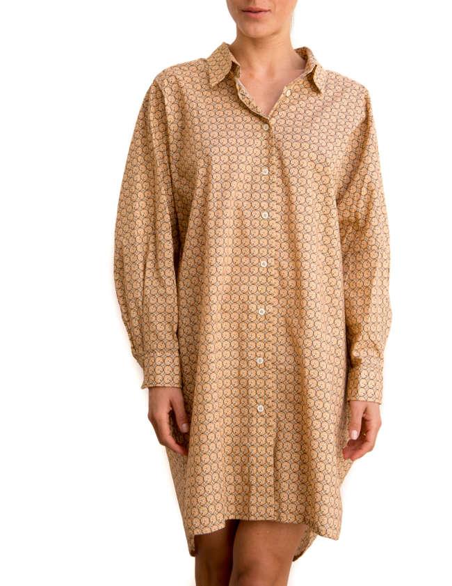 Product Shot: Shirt Dress, Sanddollar print