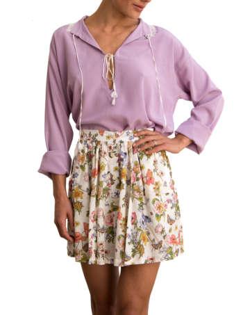 Product Shot: Stella Skirt, Flower print (front)