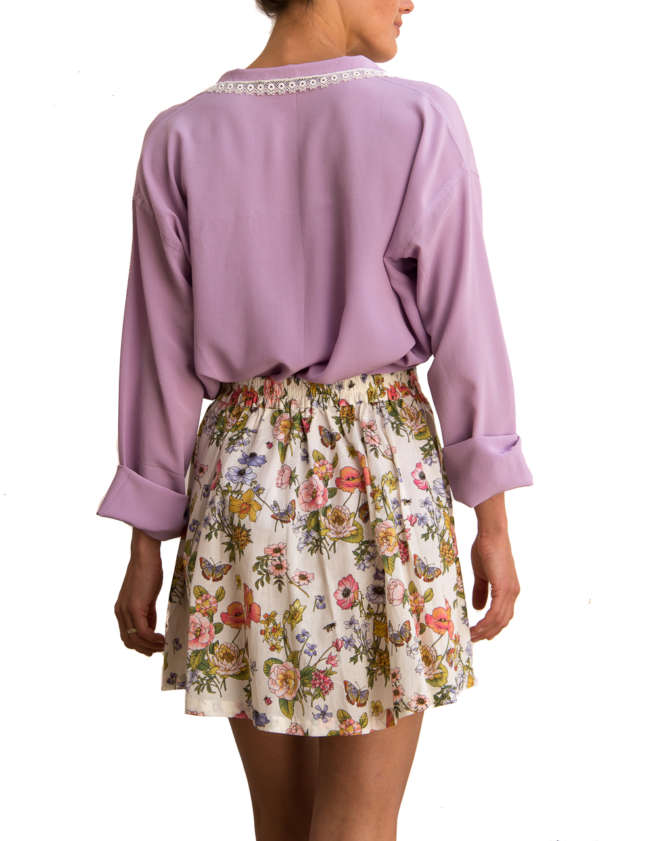 Product Shot: Stella Skirt, Flower print (front)