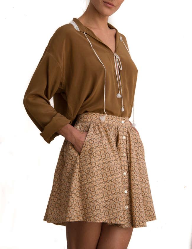 Product Shot: Stella Skirt, Sanddollar print