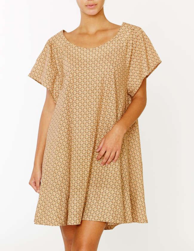 Lilibon Swimwear, Ulysse, Cotton Dress, Sand Dollar
