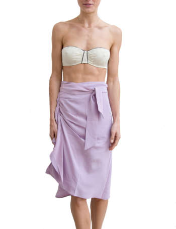 Product Shot: Louise Silk Skirt, Lavender