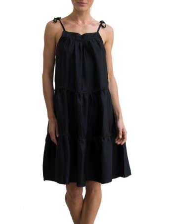 Product Shot: Thelma Silk Dress, Black